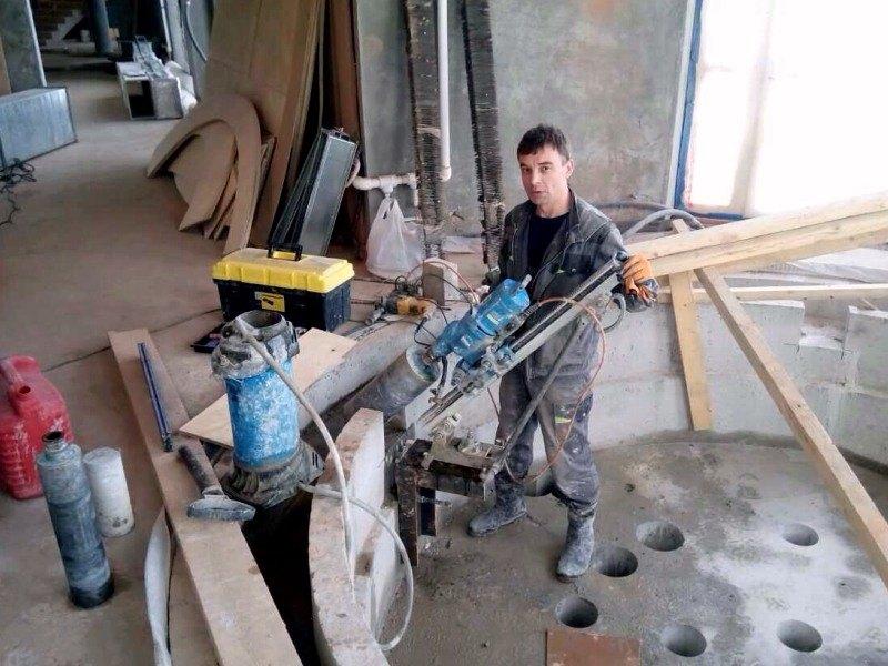 Сверление армированного бетона