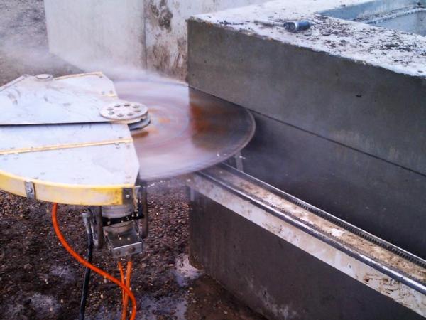 Вырубка армированного бетона